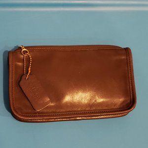 Coach leather Brown Makeup bag